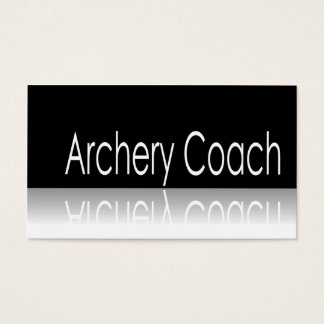 Reflective Text - Archery Coach - Business Card