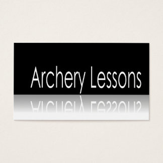 Reflective Text - Archery Lessons - Business Card