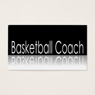 Reflective Text - Basketball Coach - Business Card