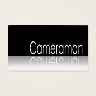 Reflective Text - Cameraman - Business Card