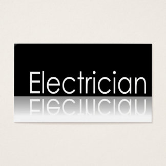 Reflective Text - Electrician - Business Card