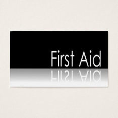 Reflective Text - First Aid - Business Card at Zazzle