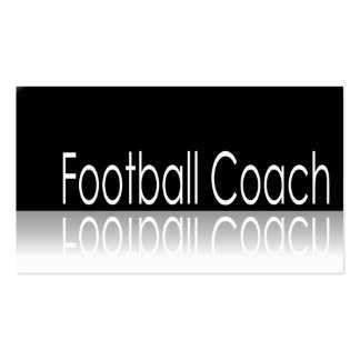 Reflective Text - Football Coach - Business Card