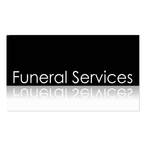 Reflective Text Funeral Services Business Card Zazzle