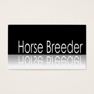 Reflective Text - Horse Breeder - Business Card