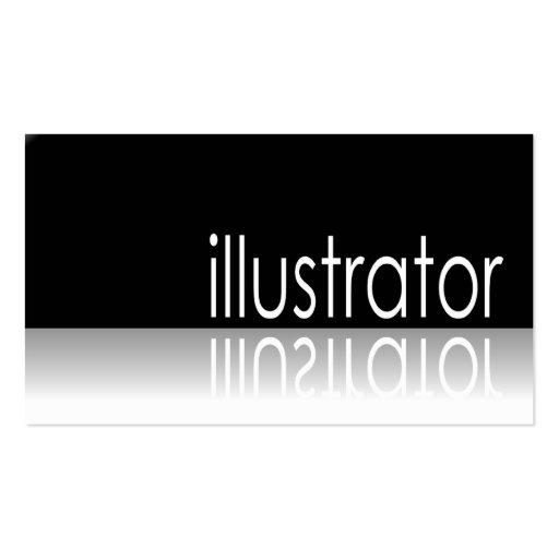 Reflective text illustrator business card zazzle for Illustrator business cards