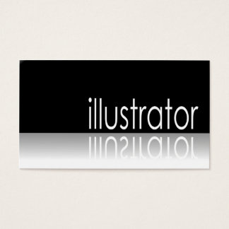 Reflective Text - Illustrator - Business Card