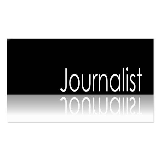 Reflective Text - Journalist - Business Card