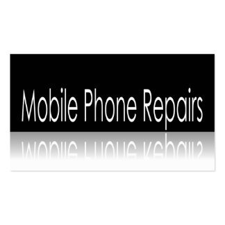 Reflective Text - Mobile Phone Repairs - Card Double-Sided Standard Business Cards (Pack Of 100)