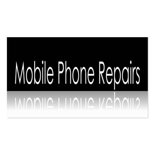 Phone Repair Business Card Cell Phone Repair Business