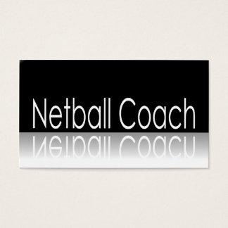 Reflective Text - Netball Coach - Business Card