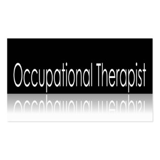 Reflective Text - Occupational Therapist - B Card Business Card