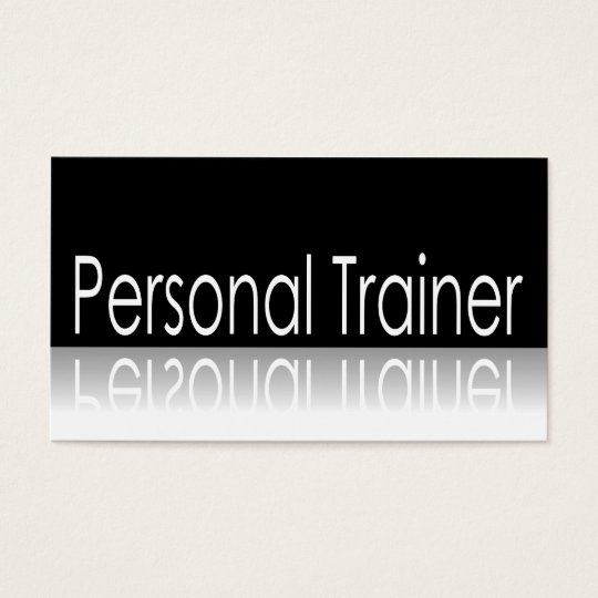 Reflective Text - Personal Trainer Business Card