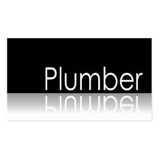 Reflective Text - Plumber - Business Card