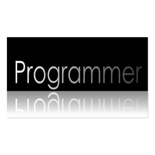 Reflective Text - Programmer - Business Card