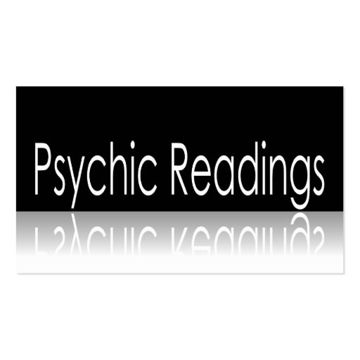 Reflective Text - Psychic Readings - Business Card