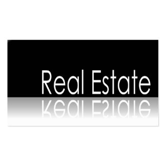 Reflective Text - Real Estate - Business Card