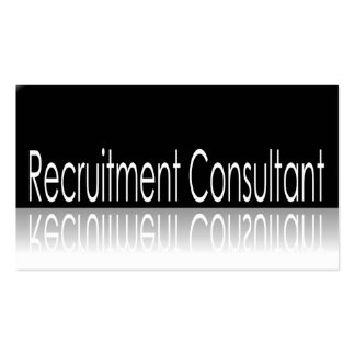 Reflective Text - Recruitment Consultant Business Card Templates