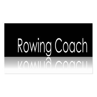 Reflective Text - Rowing Coach - Business Card