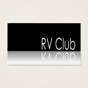 Recreational vehicle business cards templates zazzle reflective text rv club promo business card colourmoves