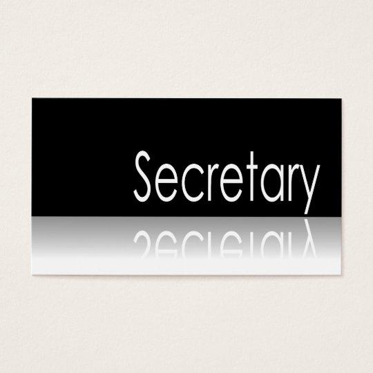 Reflective Text - Secretary - Business Card