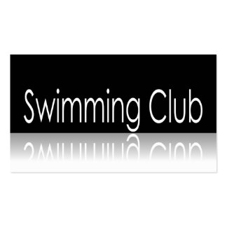 Reflective Text - Swimming Club - Promo Card Business Card Template