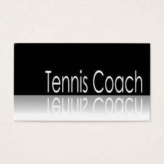 Reflective Text - Tennis Coach - Business Card