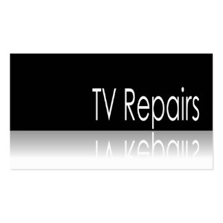 Reflective Text - TV Repairs - Business Card