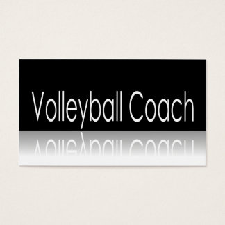 Reflective Text - Volleyball Coach - Business Card