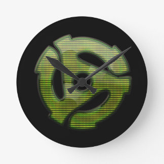 reflector de 45 RPM Reloj Redondo Mediano
