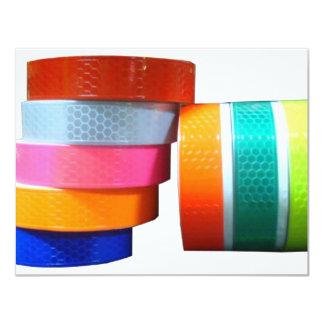 """Reflector Reflective PVC Sticker Tape Reflectors 4.25"""" X 5.5"""" Invitation Card"""