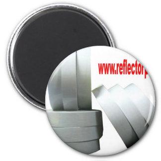 Reflectores grises reflexivos de la cinta del imán redondo 5 cm