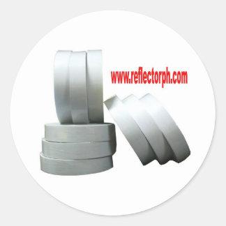 Reflectores grises reflexivos de la cinta del pegatina redonda