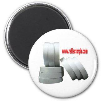 Reflectores grises reflexivos de la cinta del refl imán redondo 5 cm