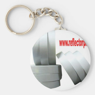 Reflectores grises reflexivos de la cinta del refl llaveros personalizados