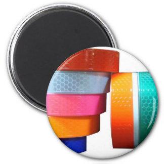 Reflectores reflexivos de la cinta del pegatina de imán redondo 5 cm
