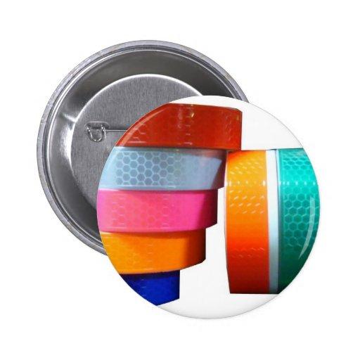 Reflectores reflexivos de la cinta del pegatina pin redondo de 2 pulgadas