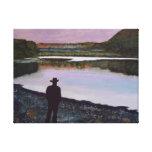 """""""Reflejando en el río Missouri """" Lona Envuelta Para Galerías"""