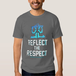 Refleje la camiseta del respecto camisas