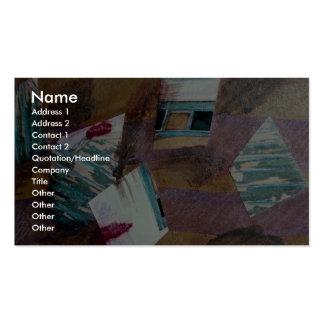 Refleje los fragmentos, técnicas mixtas, collage e tarjetas de visita