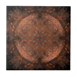 Reflejo de cobre de oro azulejo cuadrado pequeño