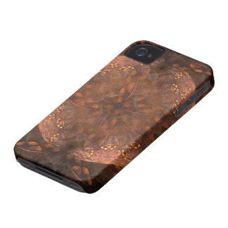Reflejo de cobre de oro iPhone 4 Case-Mate protectores