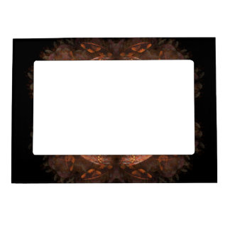 Reflejo de cobre de oro marcos magnéticos de fotos