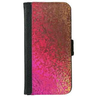 Reflejo de moda del rosa y del oro carcasa de iPhone 6