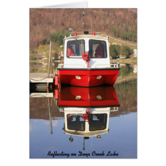 Reflejo en el lago profundo creek tarjeta pequeña