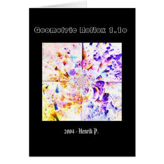 Reflejo geométrico 1.1e tarjeta de felicitación