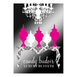Reflejo negro rococó de Budoir de 311 caramelos Tarjetas De Visita Grandes