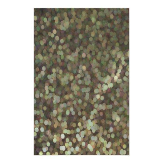 "Reflejo pintado oro del brillo folleto 5.5"" x 8.5"""