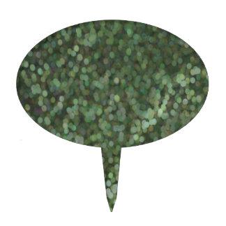Reflejo pintado verde del brillo decoraciones para tartas