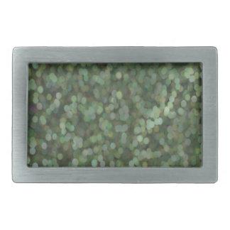 Reflejo pintado verde del brillo hebillas cinturon rectangulares